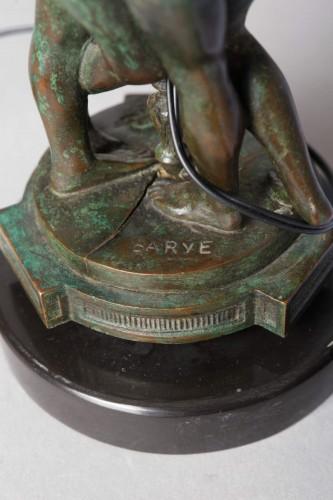 "Pair of lamps ""The Graces"" - Antoine-Louis BARYE (1796-1875) -"