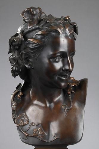 """L'Espiègle"" known as Anna Foucart - Jean-Baptiste Carpeaux (1827-1875) - Sculpture Style Napoléon III"