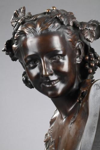 """Sculpture  - """"L'Espiègle"""" known as Anna Foucart - Jean-Baptiste Carpeaux (1827-1875)"""