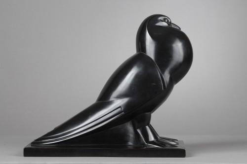 Flat-tailed Pigeon - Jan et Joël MARTEL (1896-1966) - Sculpture Style Art Déco