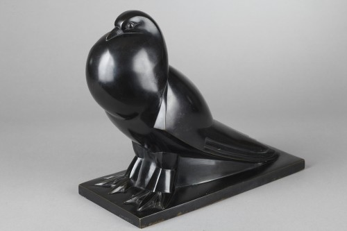 Sculpture  - Flat-tailed Pigeon - Jan et Joël MARTEL (1896-1966)