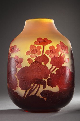 Vase with water-crowfoot decor - GALLÉ - Glass & Crystal Style Art nouveau