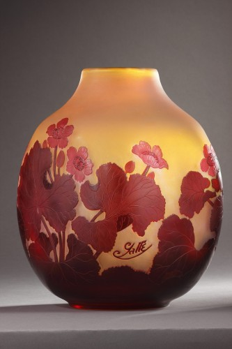 Vase with water-crowfoot decor - GALLÉ -