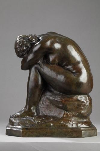 19th century - The broken Mirror or The Unknown Truth - Aimé-Jules DALOU (1838-1902)