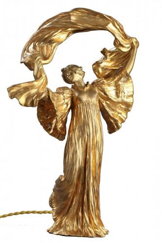 "Lamp ""Dancer with a scarf"" - Agathon LEONARD (1841-1923)"