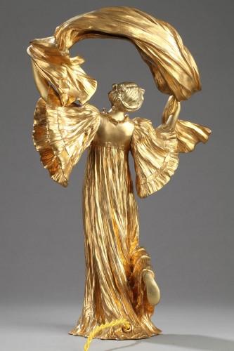 "Lighting  - Lamp ""Dancer with a scarf"" - Agathon LEONARD (1841-1923)"