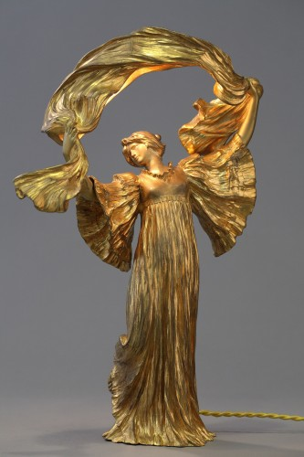 "Lamp ""Dancer with a scarf"" - Agathon LEONARD (1841-1923) -"