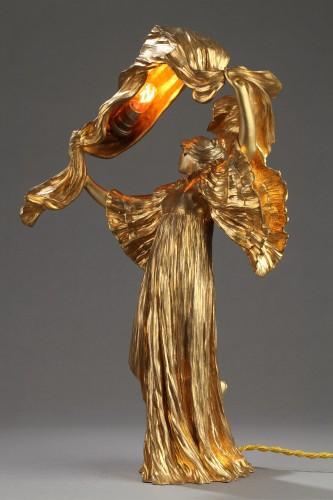 "20th century - Lamp ""Dancer with a scarf"" - Agathon LEONARD (1841-1923)"