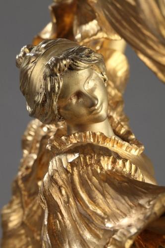 """Lamp """"Dancer with a scarf"""" - Agathon LEONARD (1841-1923) - Art nouveau"""