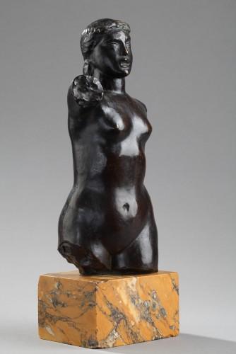 Bust of a woman - Joseph BERNARD (1866-1931) - Sculpture Style Art Déco
