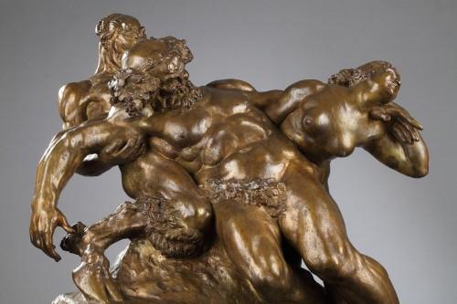 Sculpture  - Silene drunk with Faun and Fauness - Alexandre DESCATOIRE (1874-1949)