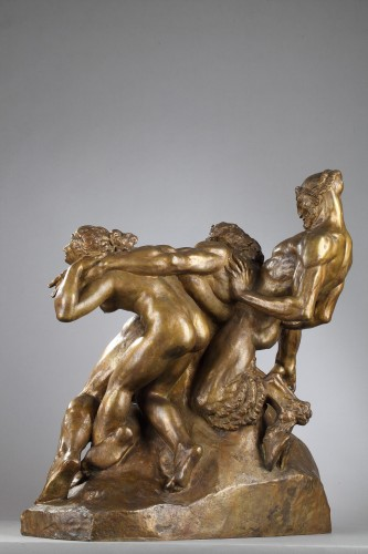 Silene drunk with Faun and Fauness - Alexandre DESCATOIRE (1874-1949) -