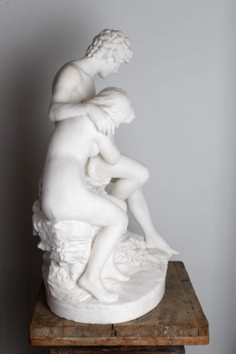 """Sculpture  - """"Adam and Eve after the Fall"""" - attr. DELAPLANCHE Eugène / 1827–1875"""