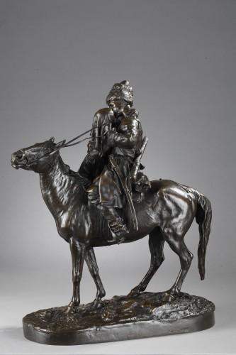 Les Adieux du Cosaque - Eugène LANCERAY (1848-1886) - Sculpture Style Napoléon III