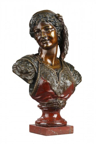 Bust of an Oriental Woman - Emile GUILLEMIN (1841-1907)