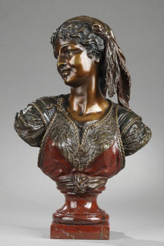 Bust of an Oriental Woman - Emile GUILLEMIN (1841-1907) - Sculpture Style Napoléon III