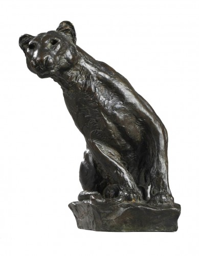 Panther watching - Roger GODCHAUX (1878-1958)