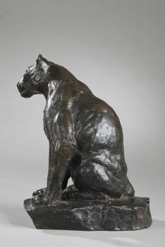 Sculpture  - Panther watching - Roger GODCHAUX (1878-1958)