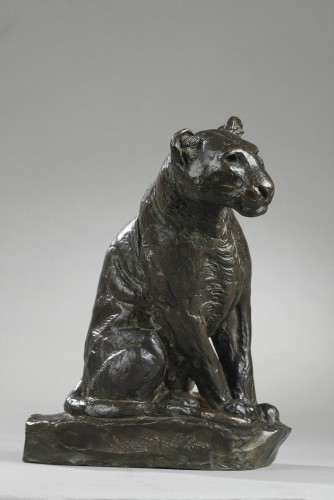 Panther watching - Roger GODCHAUX (1878-1958) - Art Déco