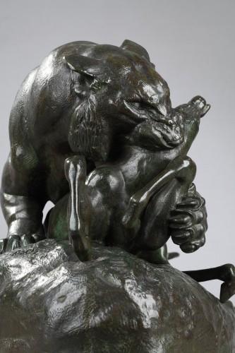 19th century - Tiger surprising an antelope - Antoine-Louis BARYE (1796-1875)