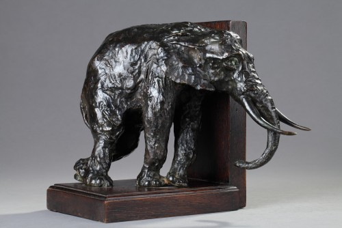 Pair of bookends with Elephants - Ary BITTER (1883-1973) - Sculpture Style Art Déco
