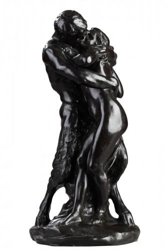"The Kiss"" or Nymph and Faun - Aimé-Jules DALOU (1838-1902)"