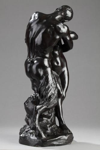 "The Kiss"" or Nymph and Faun - Aimé-Jules DALOU (1838-1902) -"