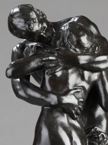 "20th century - The Kiss"" or Nymph and Faun - Aimé-Jules DALOU (1838-1902)"