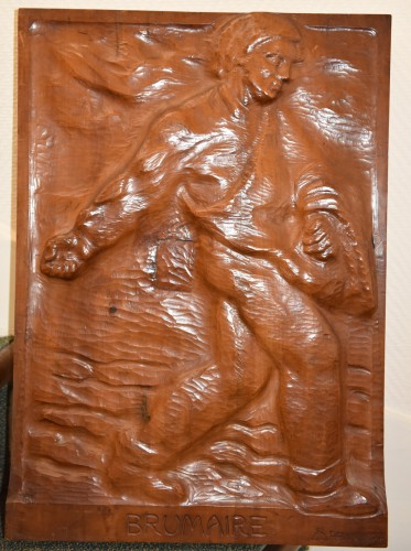Set of 4 carved panels - Edouard CHASSAING (1895-1974) - Sculpture Style Art Déco