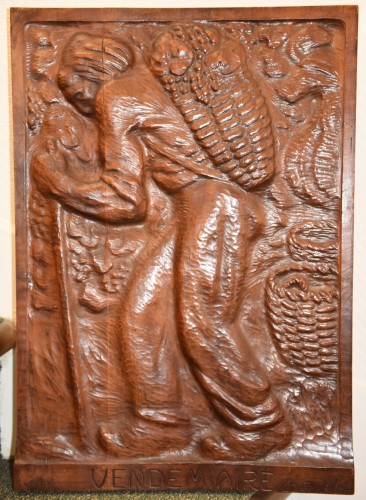 Set of 4 carved panels - Edouard CHASSAING (1895-1974) -
