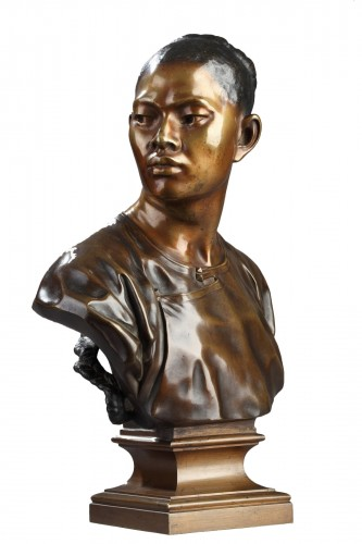 Chinese male bust - Jean-Baptiste Carpeaux (1827-1875)