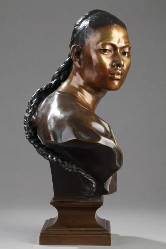 Sculpture  - Chinese male bust - Jean-Baptiste Carpeaux (1827-1875)