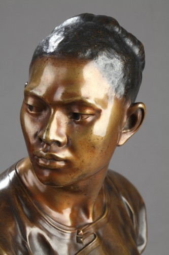 Chinese male bust - Jean-Baptiste Carpeaux (1827-1875) - Napoléon III