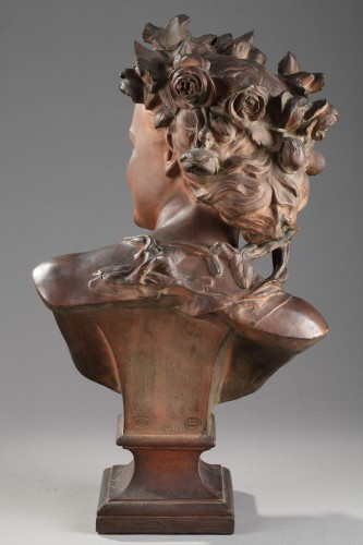 Rieuse with roses - Jean-Baptiste Carpeaux (1827-1875) - Sculpture Style Napoléon III
