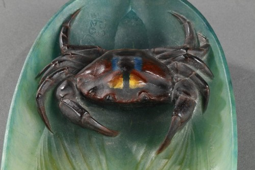 20th century - Pin Tray with a Crab - Almaric Walter (1870-1959)