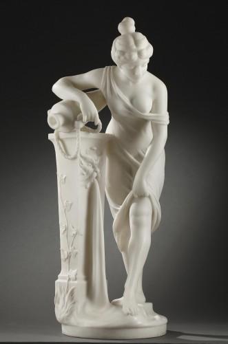 Woman at the Fountain - Fanfani SAUL (1856-1919) - Sculpture Style Art nouveau