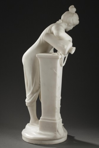 Sculpture  - Woman at the Fountain - Fanfani SAUL (1856-1919)