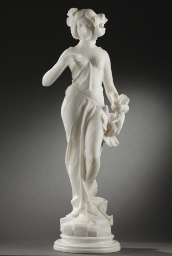 Summer - A. BATACCHI (19th-20th c.) - Sculpture Style Art nouveau