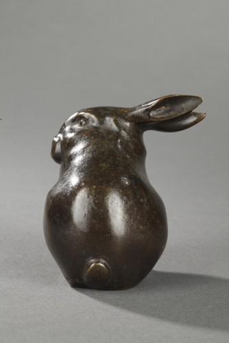 Sculpture  - Rabbit with head turned - Edouard-Marcel SANDOZ (1881-1971)
