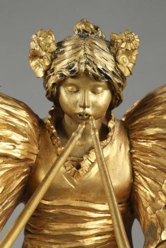 Piper player - Agathon LEONARD (1841-1923) - Sculpture Style Art nouveau