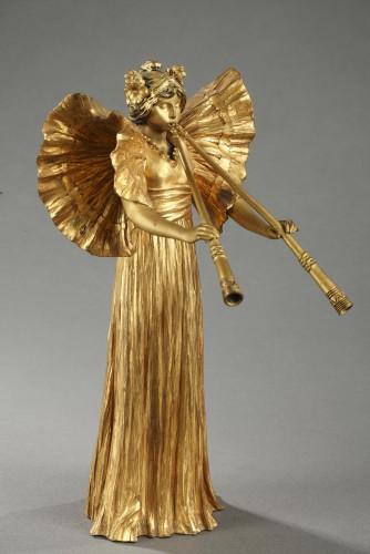 Sculpture  - Piper player - Agathon LEONARD (1841-1923)