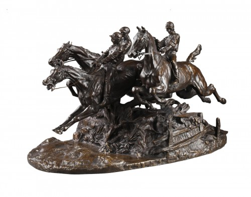 Steeple-chase - Eugène LANCERAY (1848-1886)