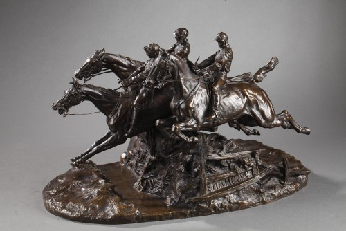 Steeple-chase - Eugène LANCERAY (1848-1886) - Sculpture Style Napoléon III