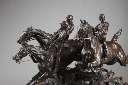 Sculpture  - Steeple-chase - Eugène LANCERAY (1848-1886)