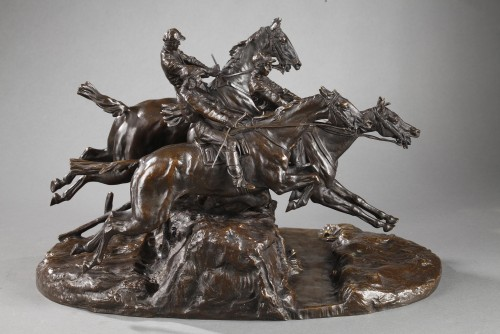 19th century - Steeple-chase - Eugène LANCERAY (1848-1886)