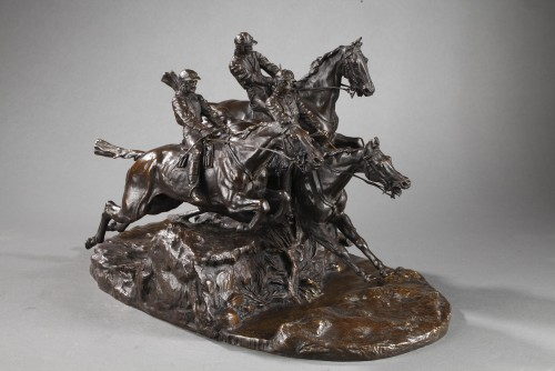 Steeple-chase - Eugène LANCERAY (1848-1886) - Napoléon III