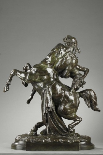 Sculpture  - L'Enlèvement d'Hippodamie - Albert-Ernest CARRIER-BELLEUSE (1824-1887)