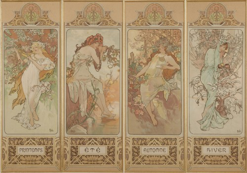 The Seasons - Alphonse Mucha (1860-1939)