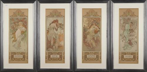 The Seasons - Alphonse Mucha (1860-1939) - Engravings & Prints Style Art nouveau