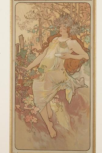 Engravings & Prints  - The Seasons - Alphonse Mucha (1860-1939)